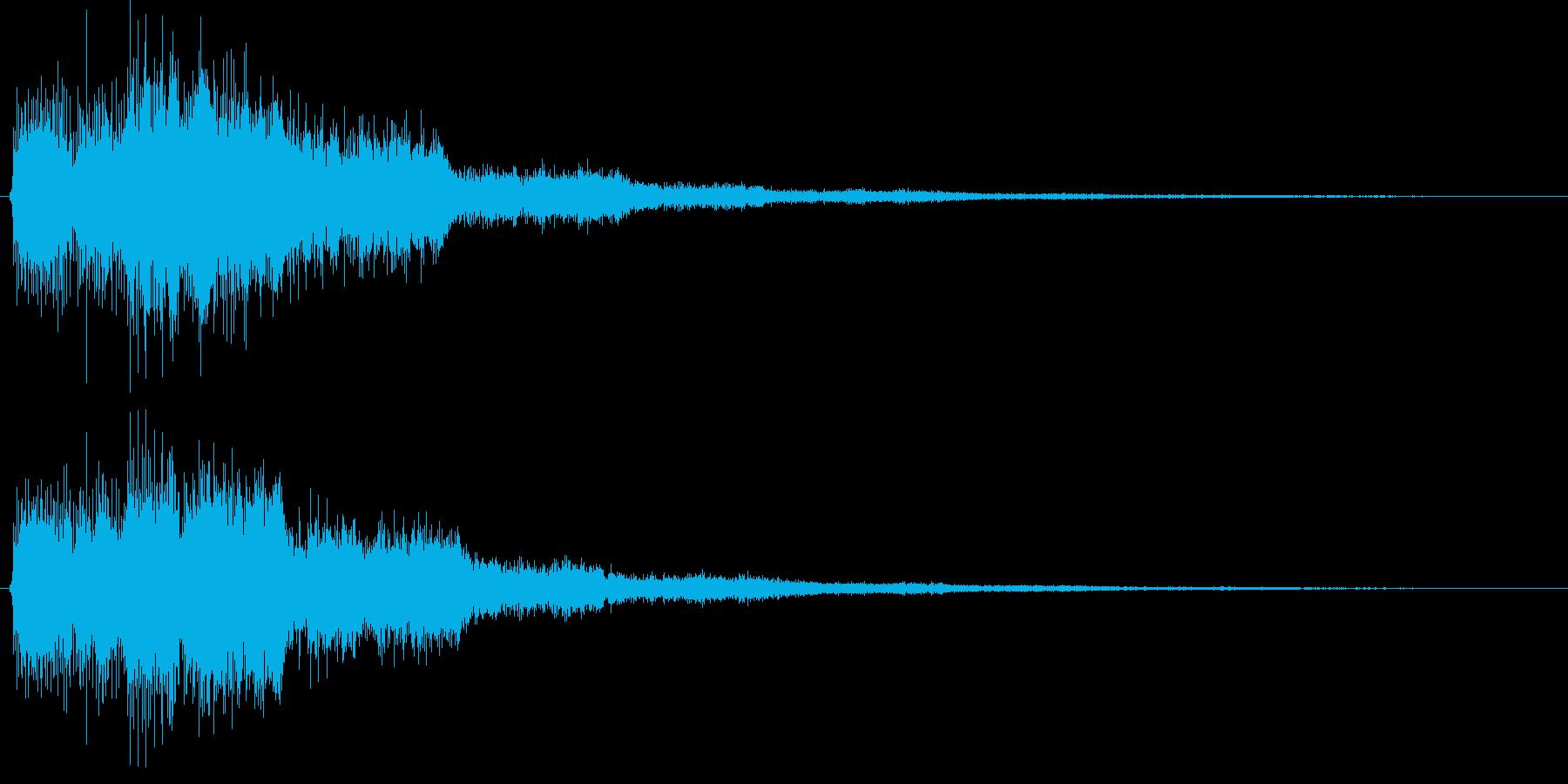 決定音(少し長めの電子音)の再生済みの波形