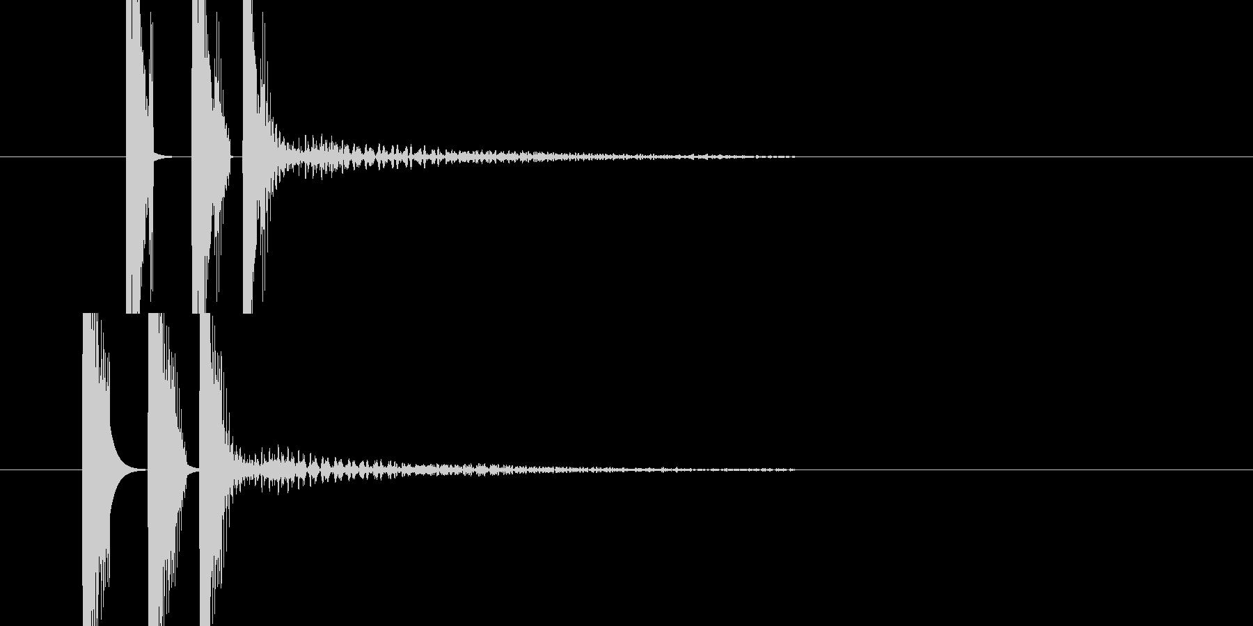 ヒュンの連打音(発射音)の未再生の波形