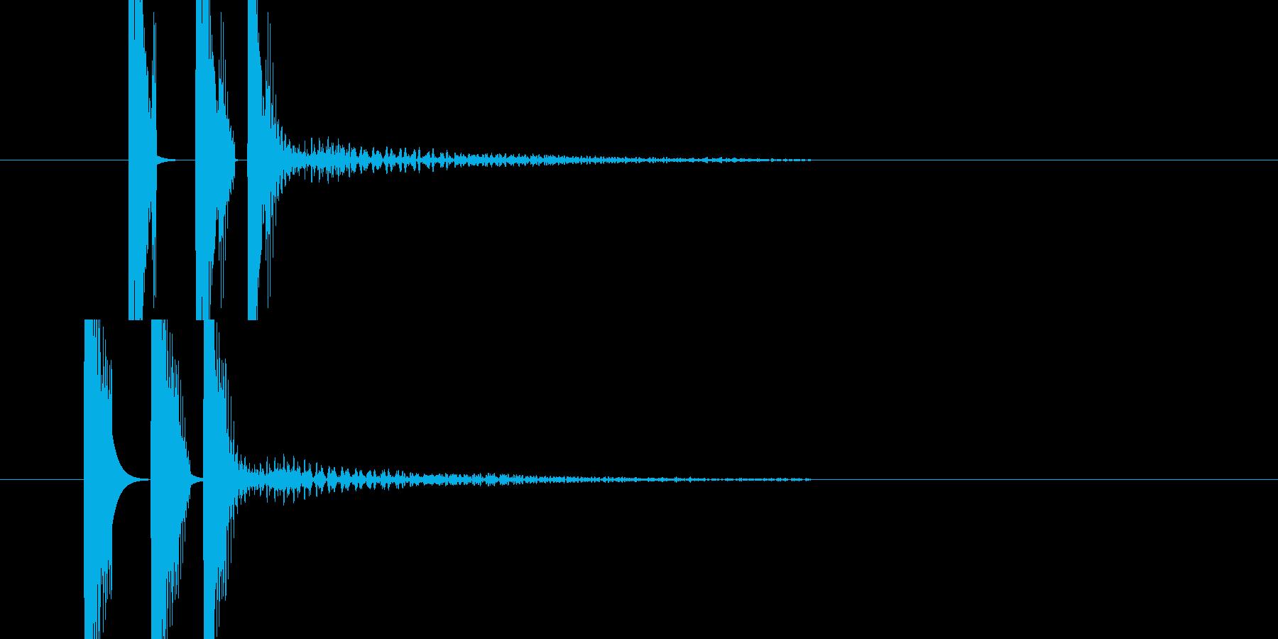 ヒュンの連打音(発射音)の再生済みの波形