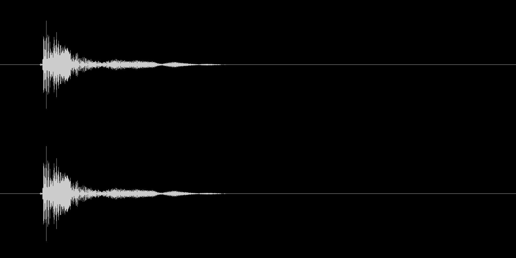 トン(和太鼓)の未再生の波形