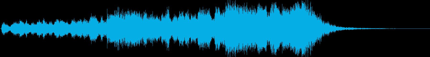 フーガ風の凝った金管ファンファーレの再生済みの波形