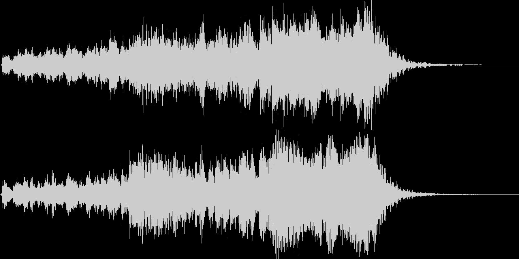 フーガ風の凝った金管ファンファーレの未再生の波形
