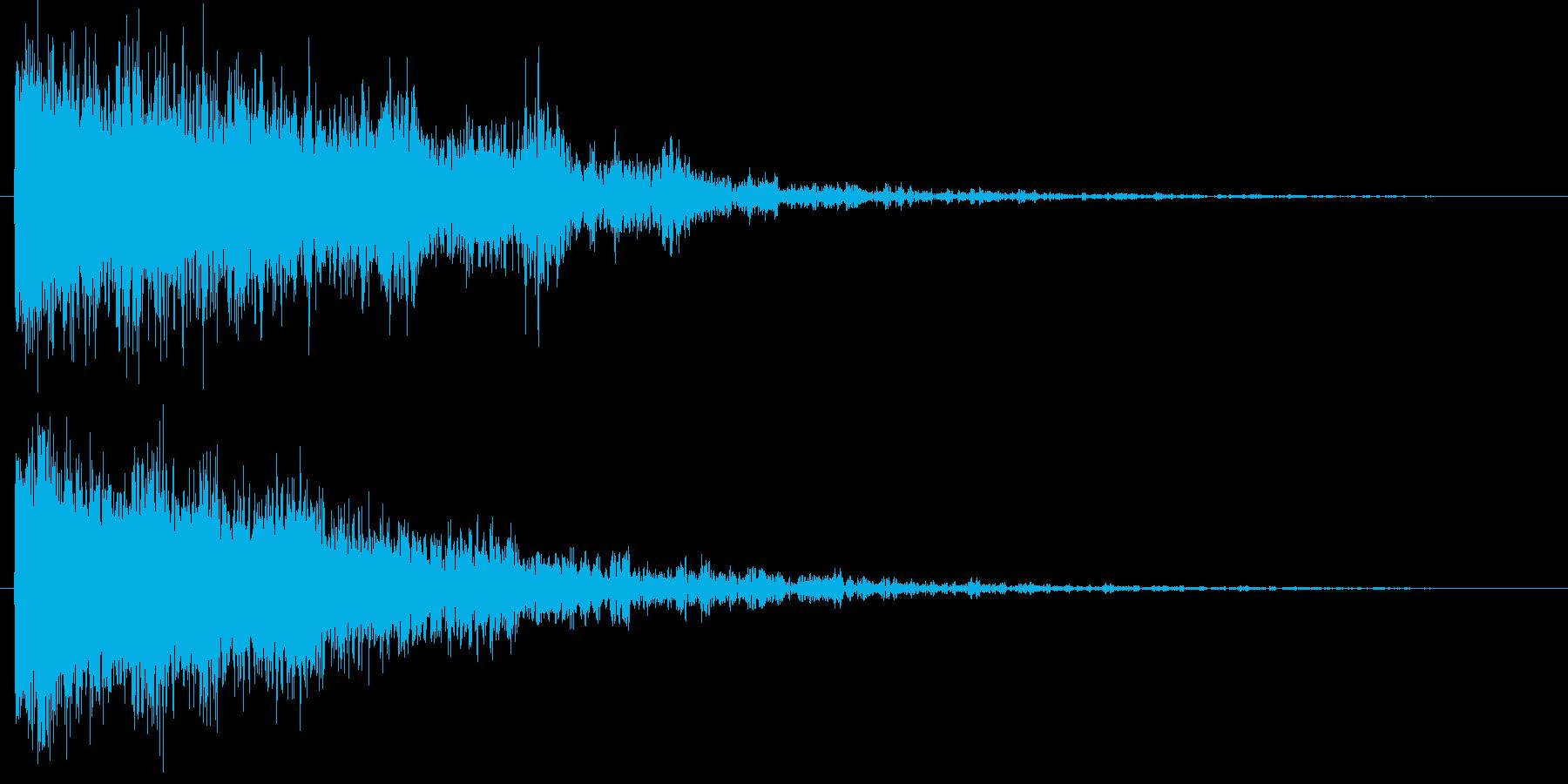 ドーン(SF的な宇宙音)の再生済みの波形