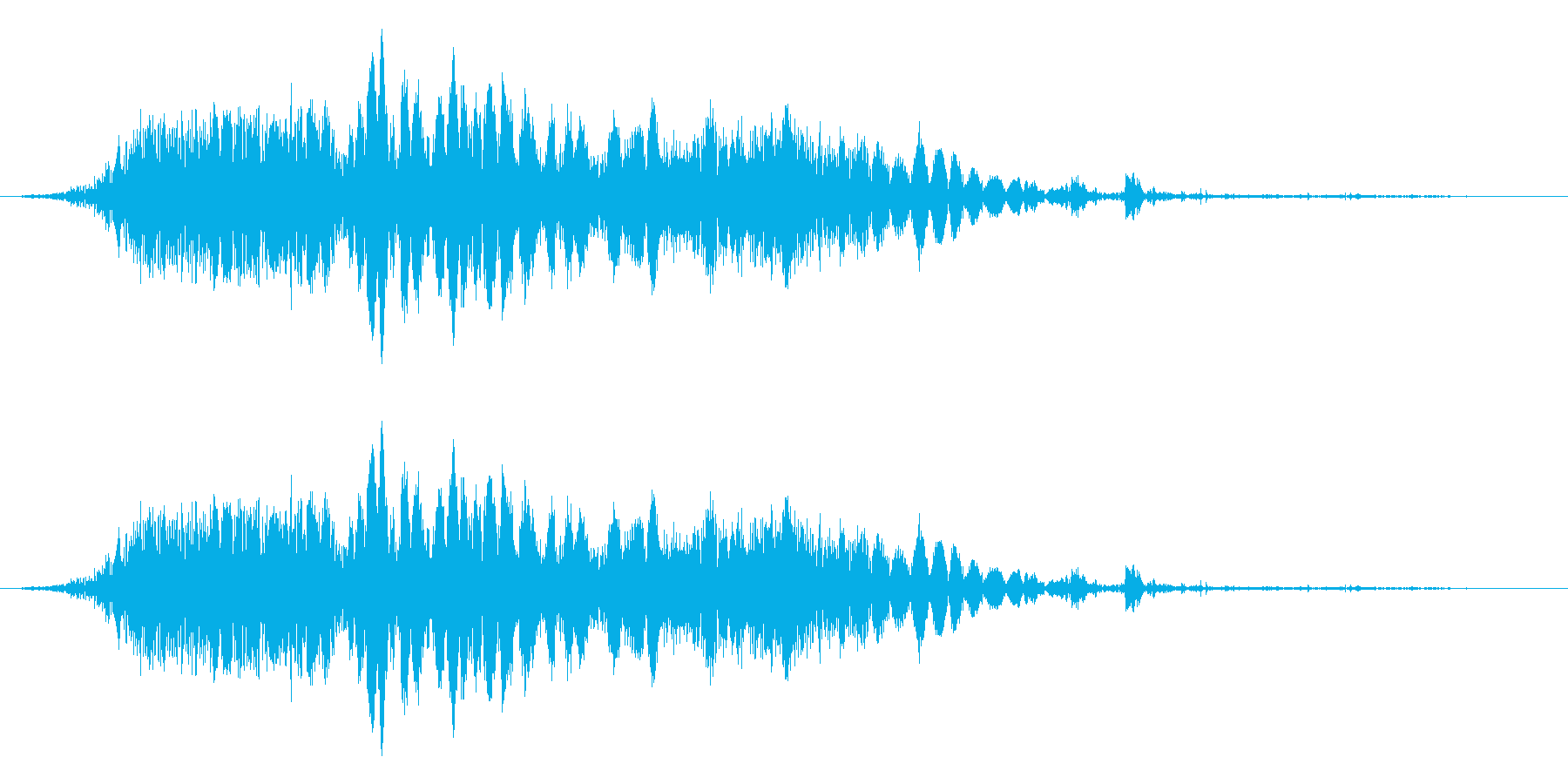 斬撃音!(刀や剣で斬る/刺す効果音)14の再生済みの波形