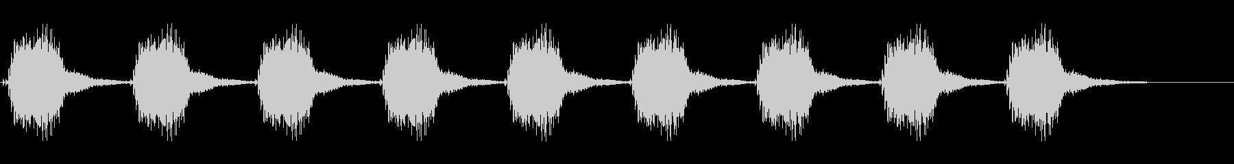 アラーム。警告音。の未再生の波形