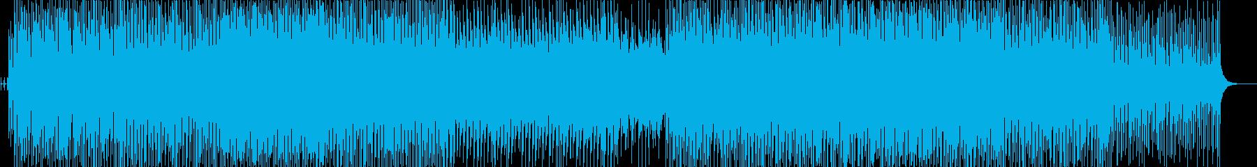 三味線のノリが良くかっこいい和風テクノの再生済みの波形
