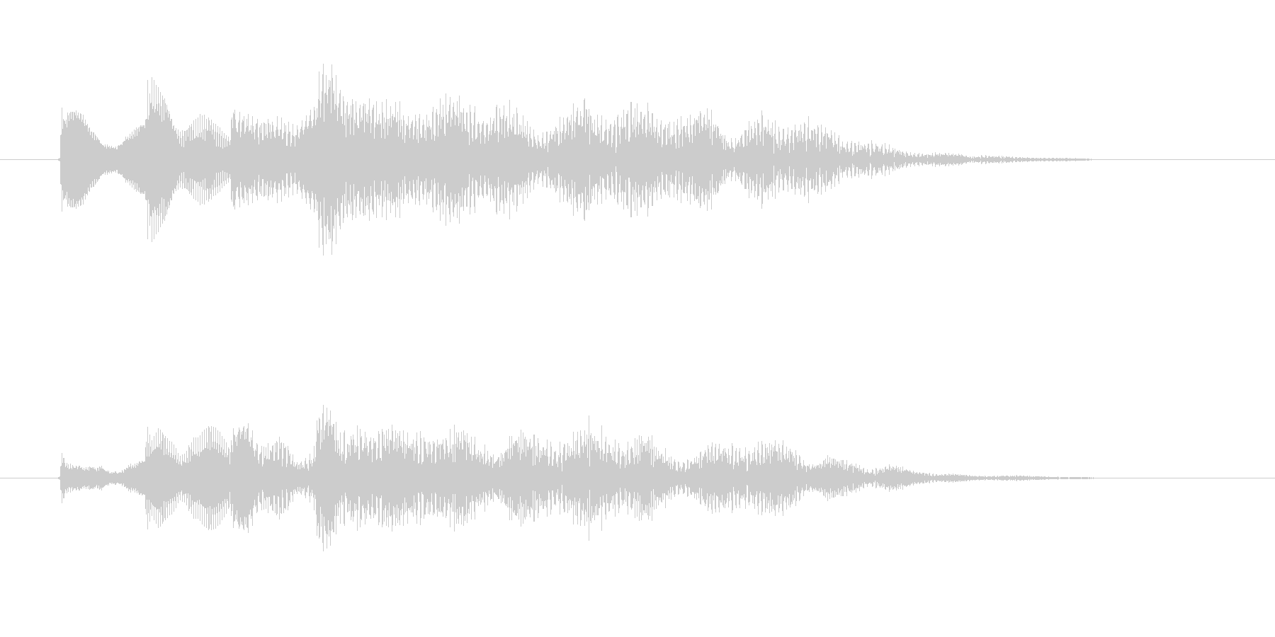 涼しげ鉄琴打楽器音(アニメ、ジングル)の未再生の波形
