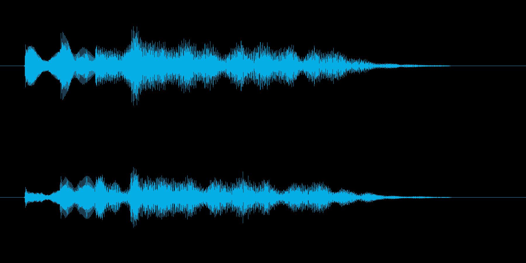 涼しげ鉄琴打楽器音(アニメ、ジングル)の再生済みの波形