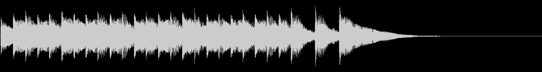 シンプルなアコギ風ジングルの未再生の波形