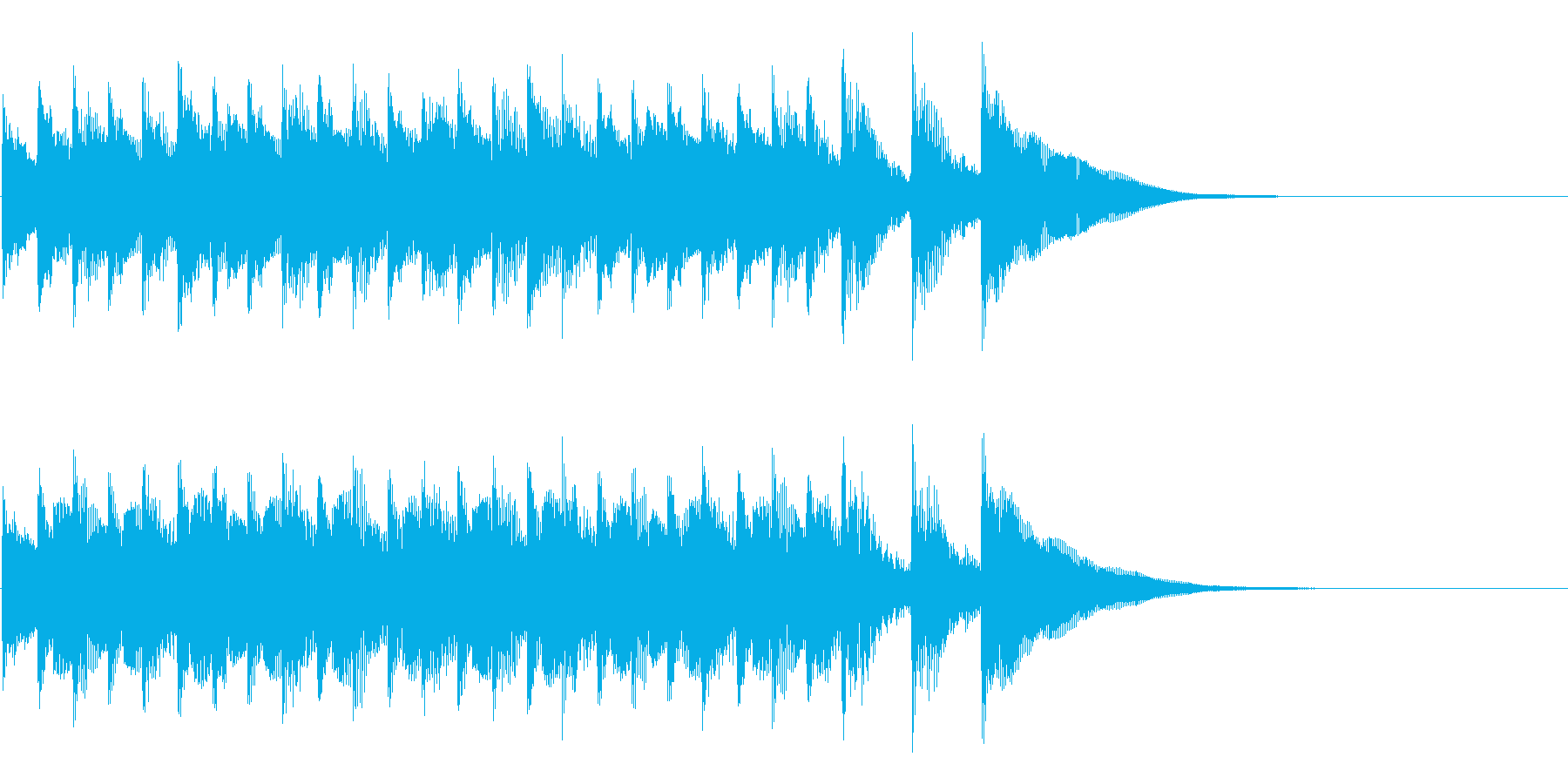 シンプルなアコギ風ジングルの再生済みの波形