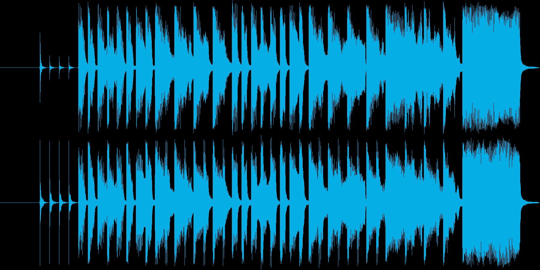 子供のワクワクする15秒CM曲の再生済みの波形