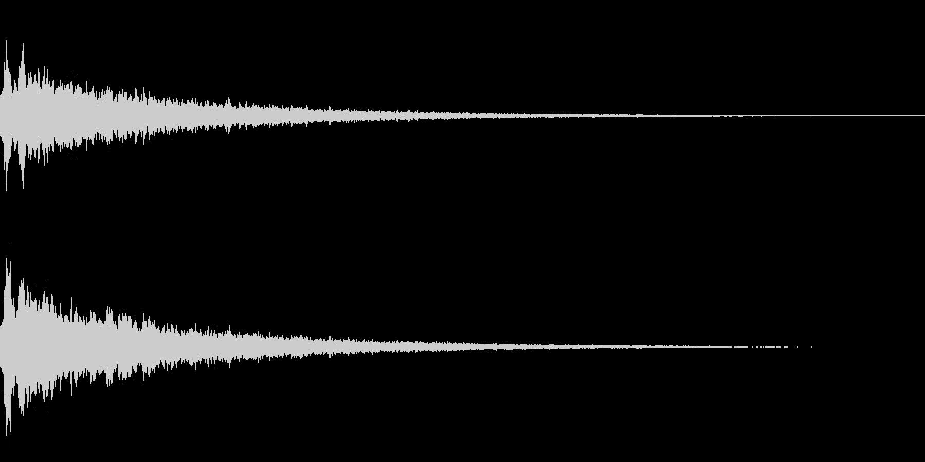 キラーンというかわいい音です。の未再生の波形