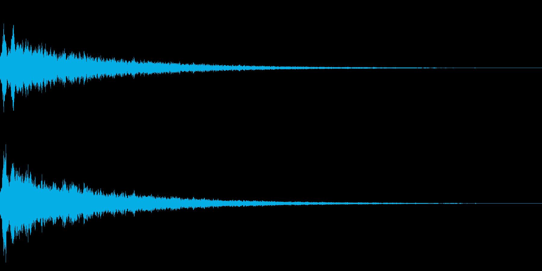 キラーンというかわいい音です。の再生済みの波形