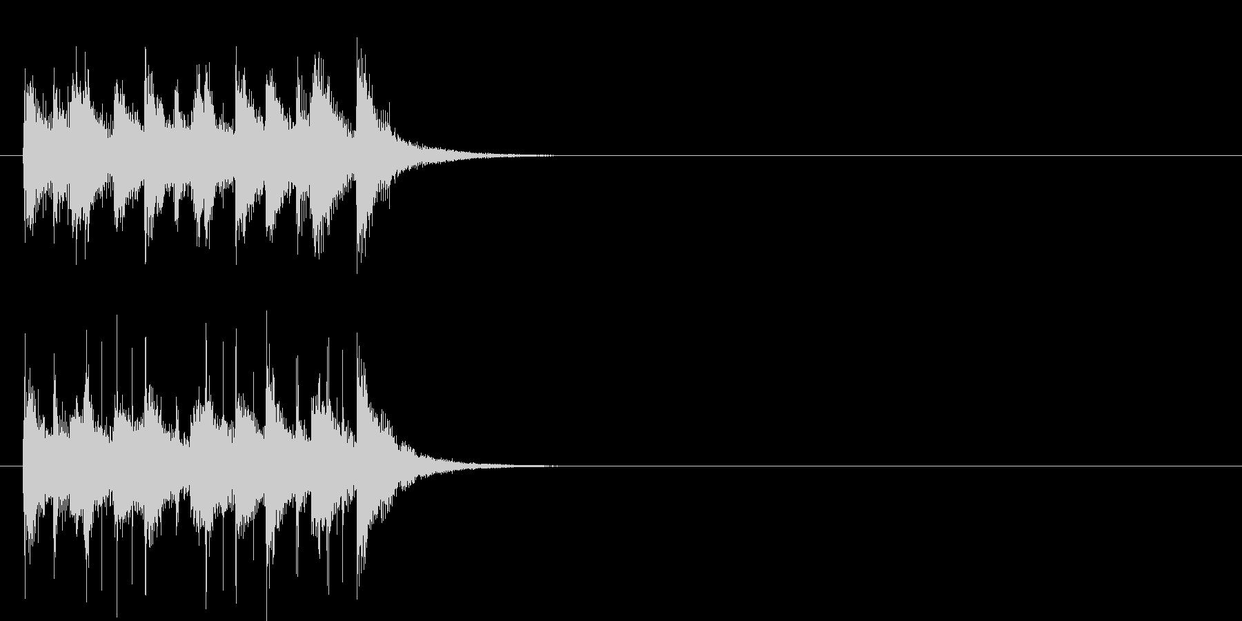 ポップ系ジングルの未再生の波形