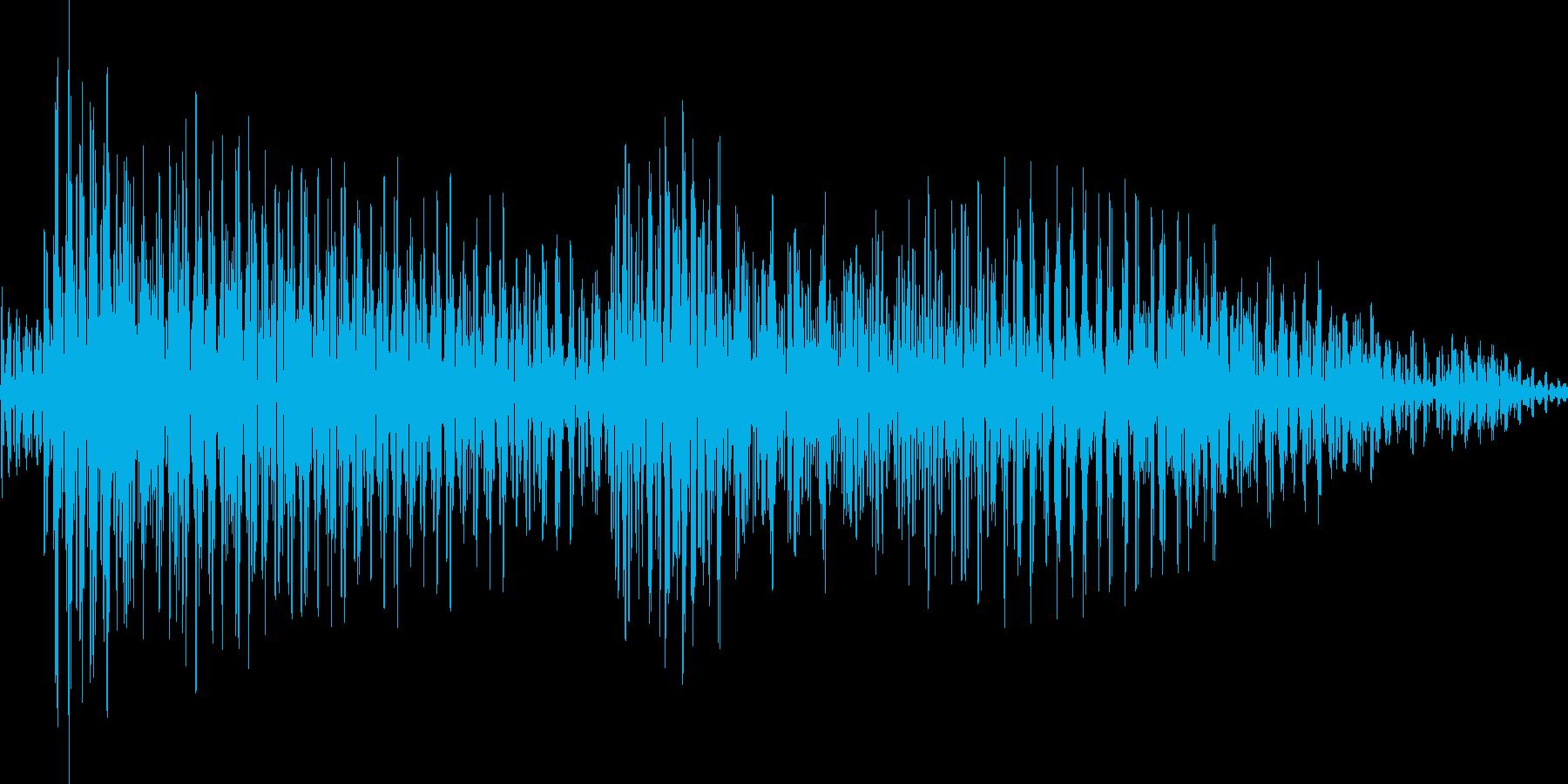 ジャジャン(カントリーギター)の再生済みの波形