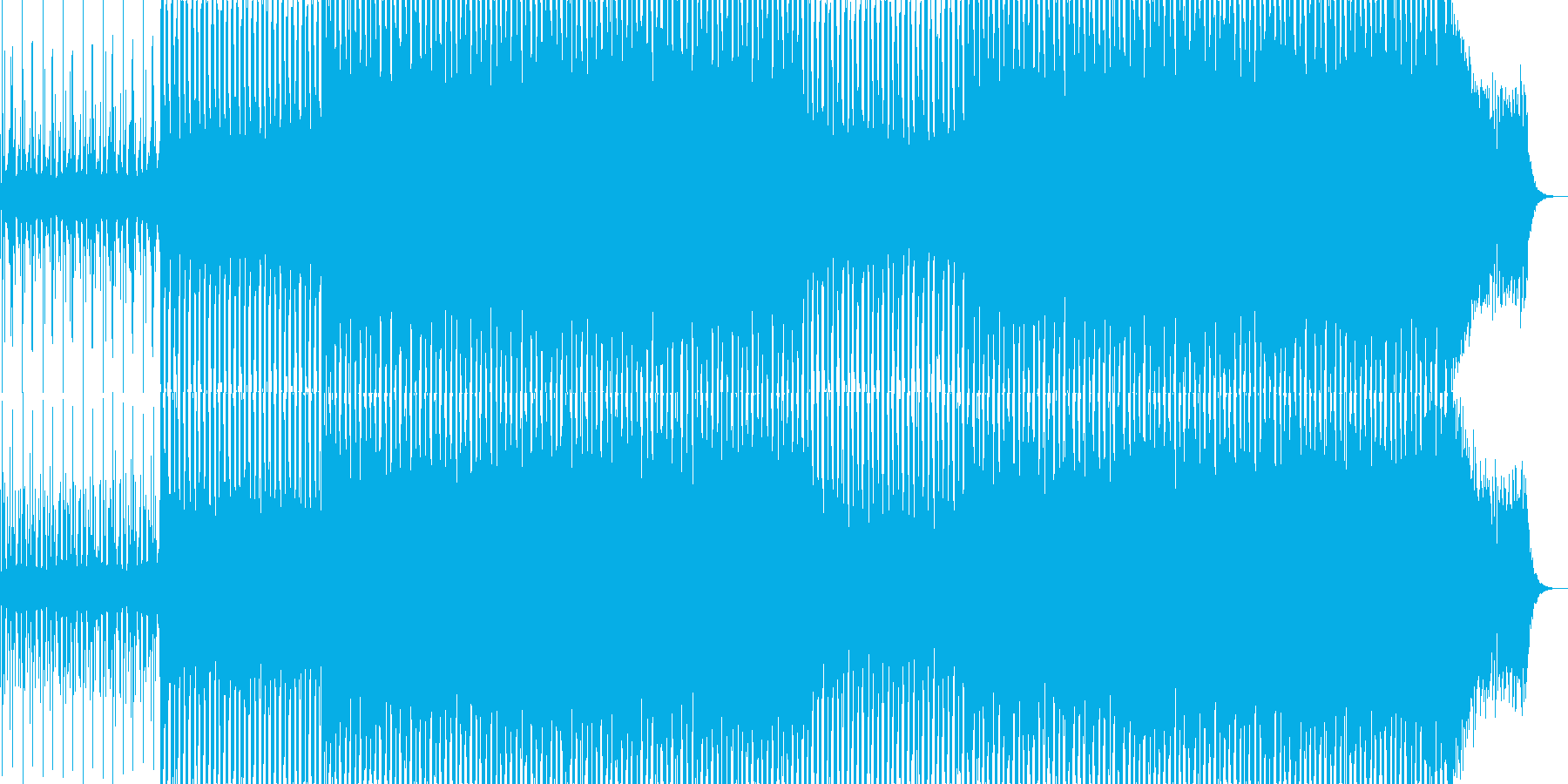 EDMクラブ系ダンスミュージック-110の再生済みの波形