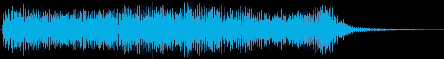 ニュース番組のオープニング等のシンセ音の再生済みの波形