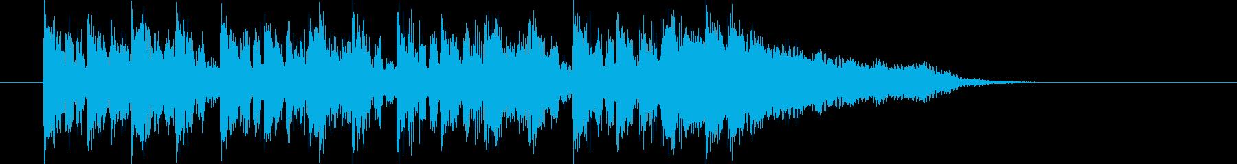 明るくポップなオープ二ングの再生済みの波形
