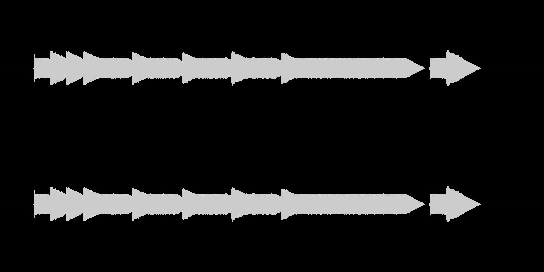 クイズ番組のステージクリア時の音。の未再生の波形