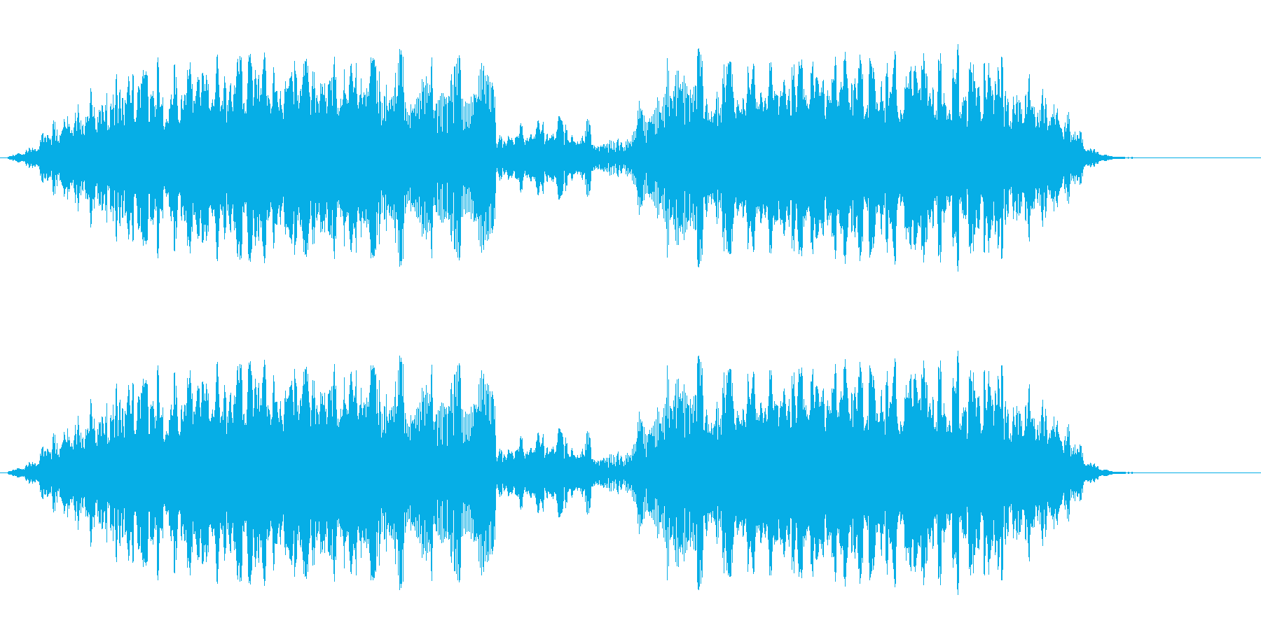 トゥルルルルートゥルンの再生済みの波形