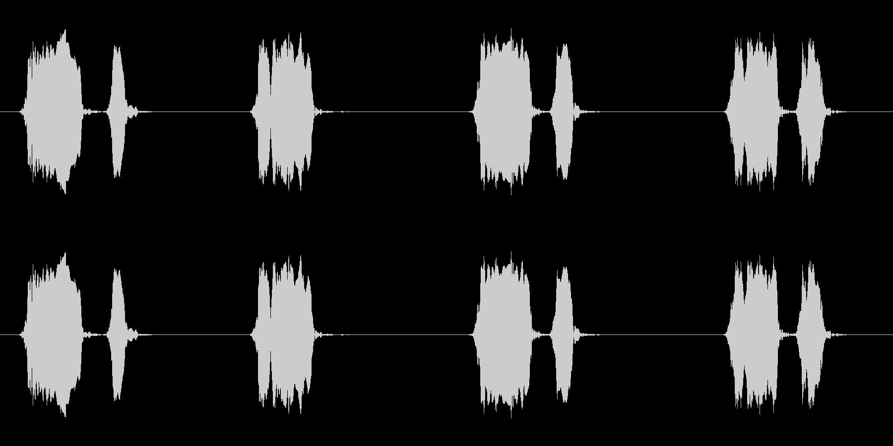 ウズラの鳴き声02-01の未再生の波形