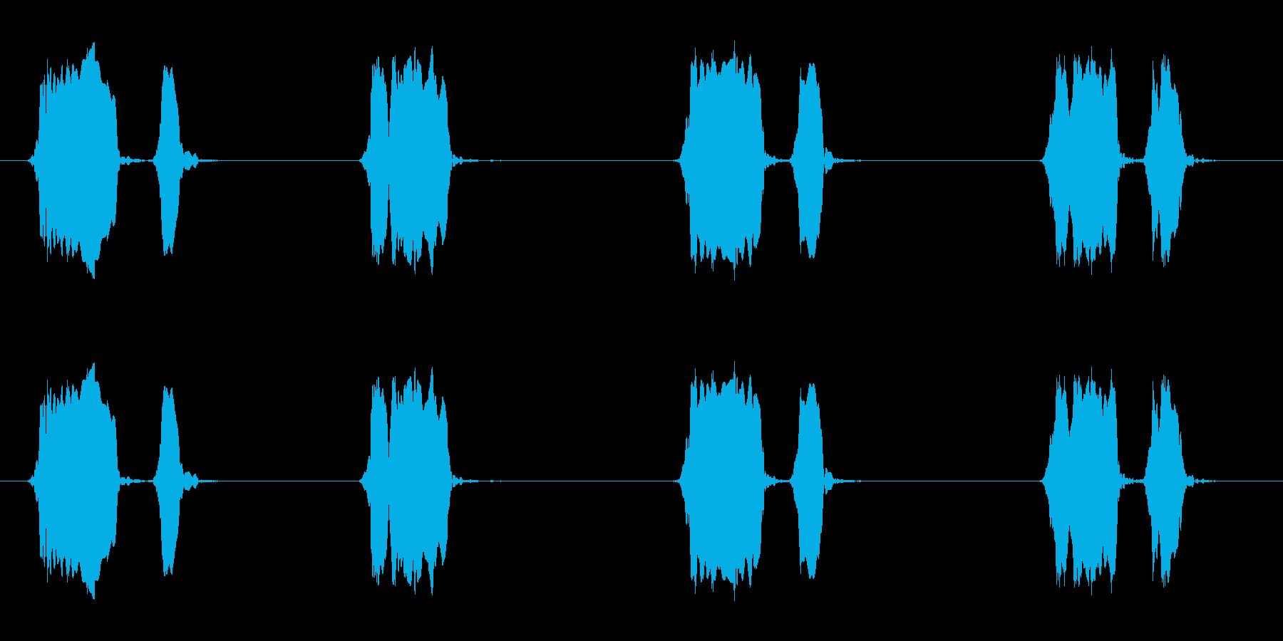 ウズラの鳴き声02-01の再生済みの波形