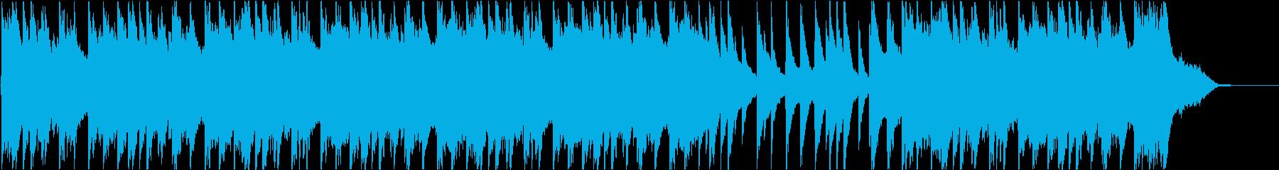 切ない幻想的なピアノの再生済みの波形
