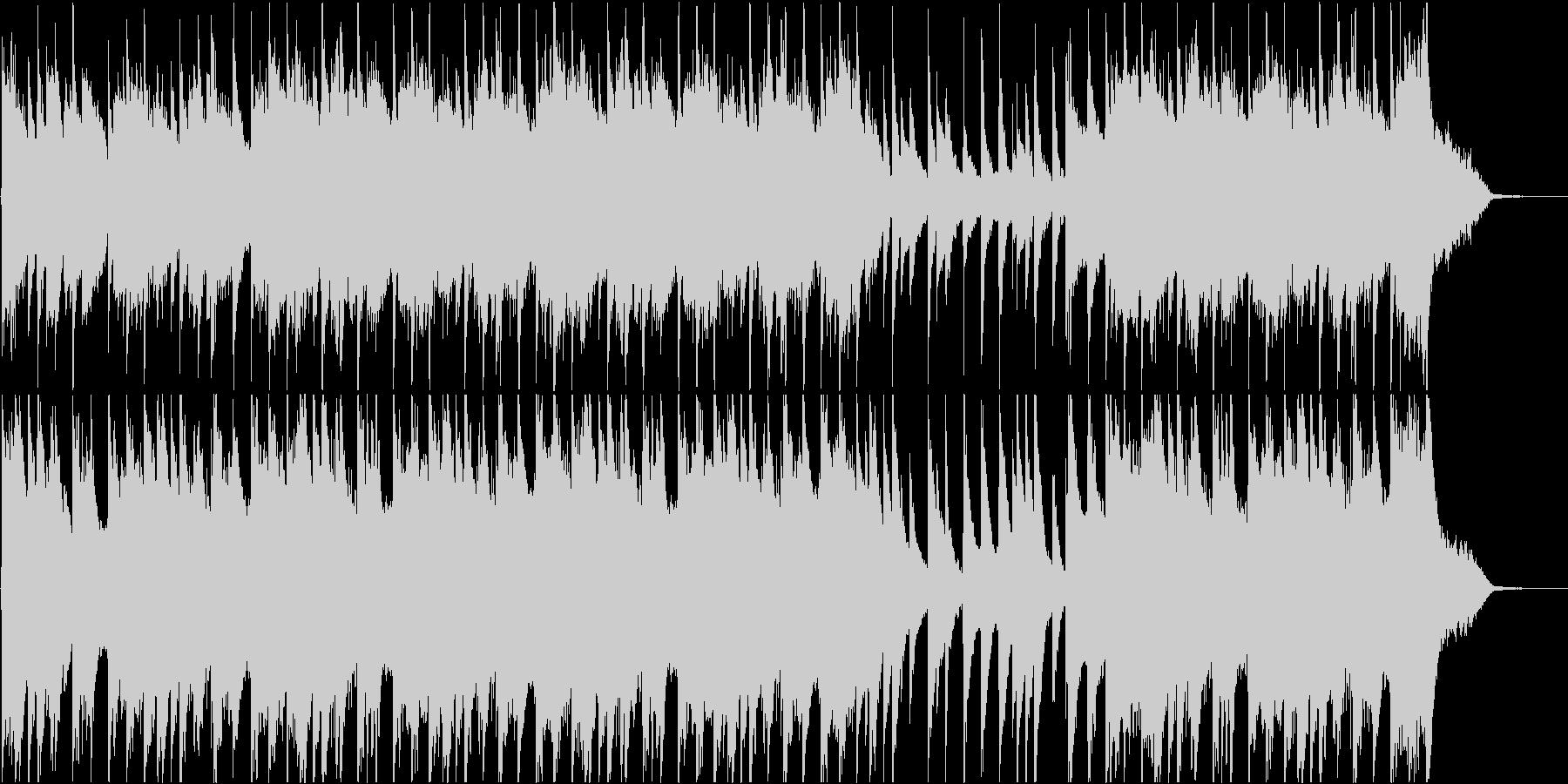切ない幻想的なピアノの未再生の波形