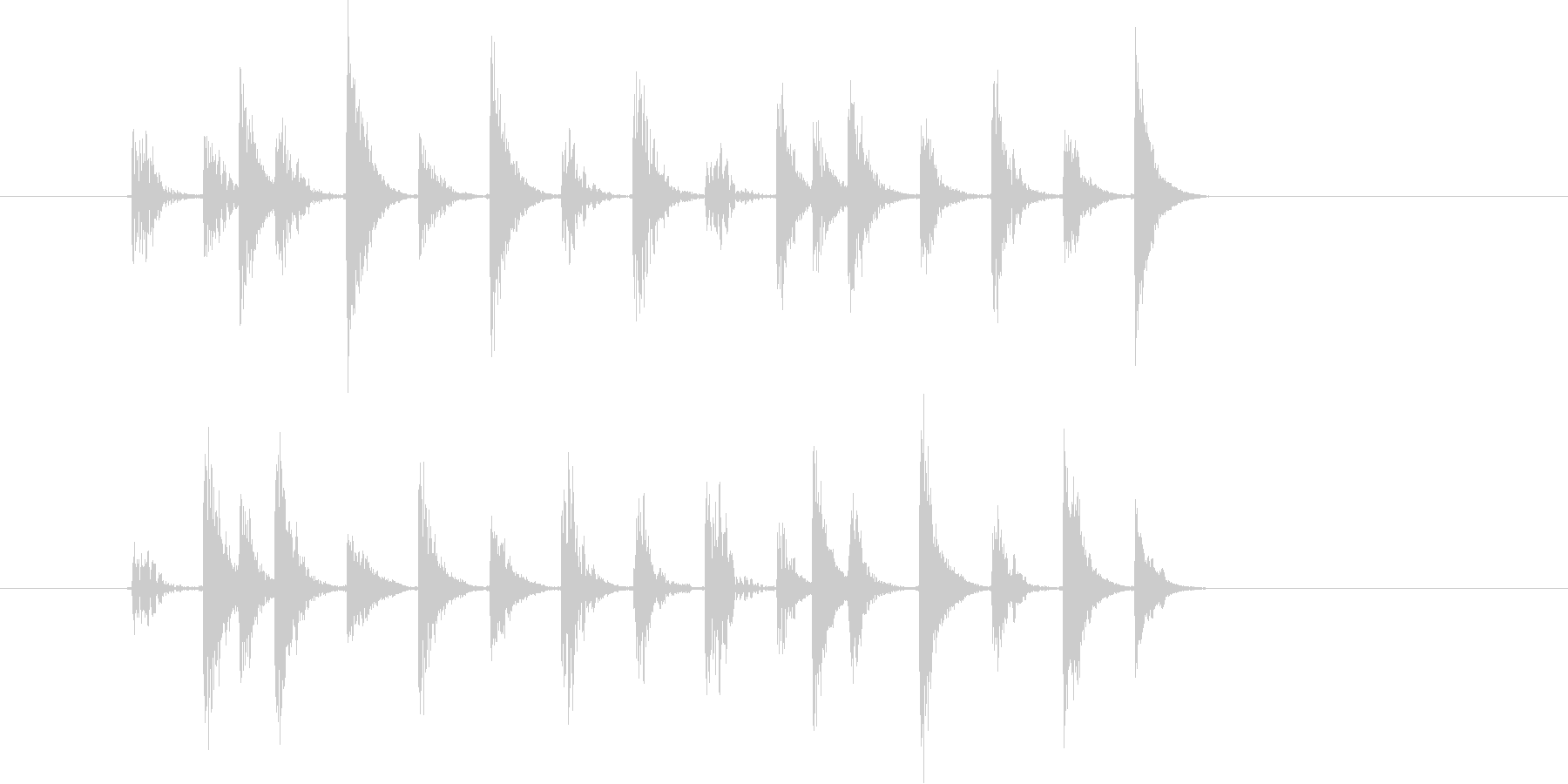 シリアスなテクノ音(宇宙、ミステリー)の未再生の波形