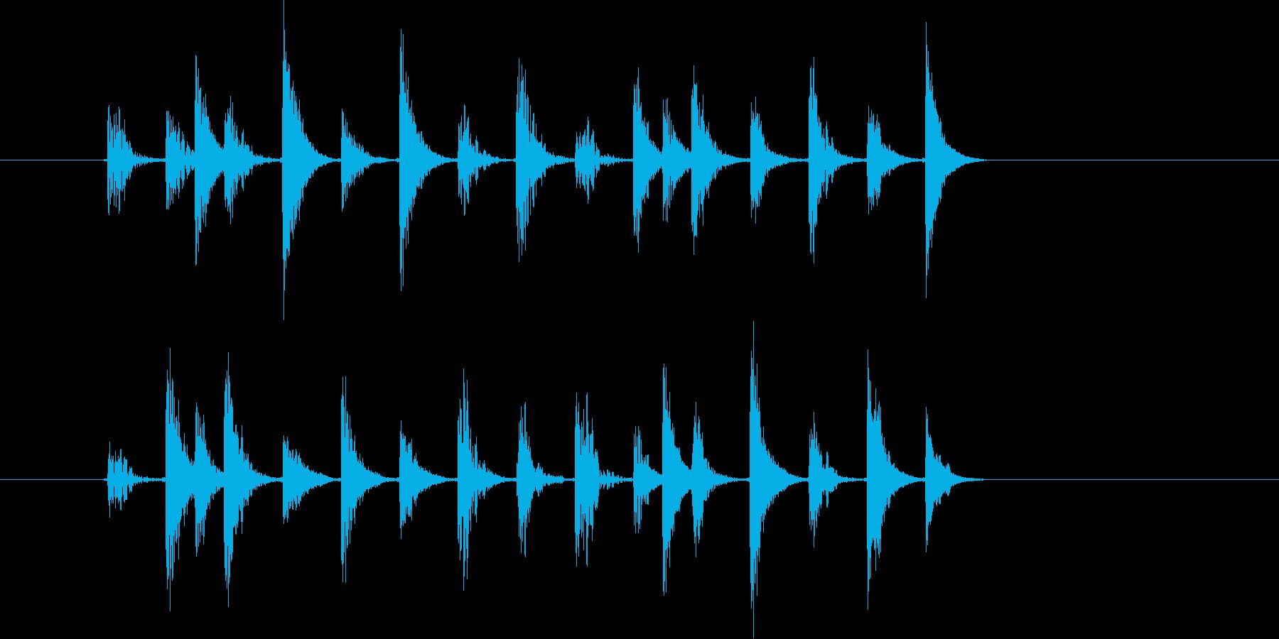 シリアスなテクノ音(宇宙、ミステリー)の再生済みの波形