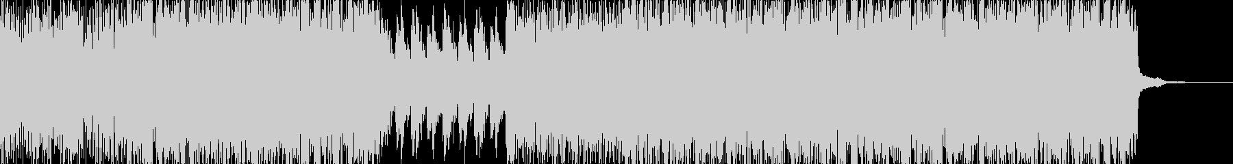 緊迫感のあるサイバーなリズムBGMの未再生の波形