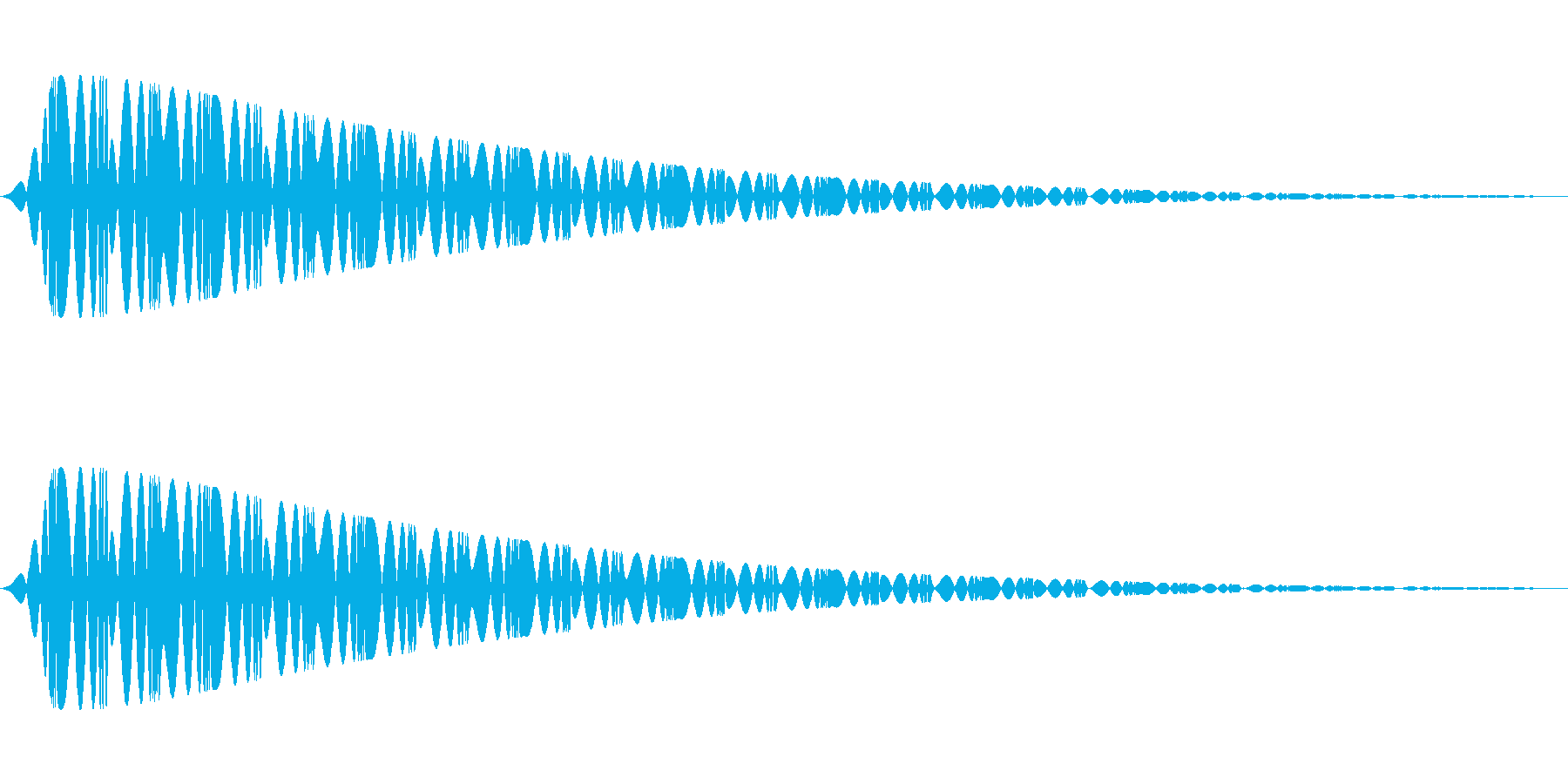 特撮にありそうな電子音の再生済みの波形