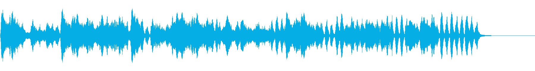 バッハのメヌエット(バイオリン演奏)の再生済みの波形