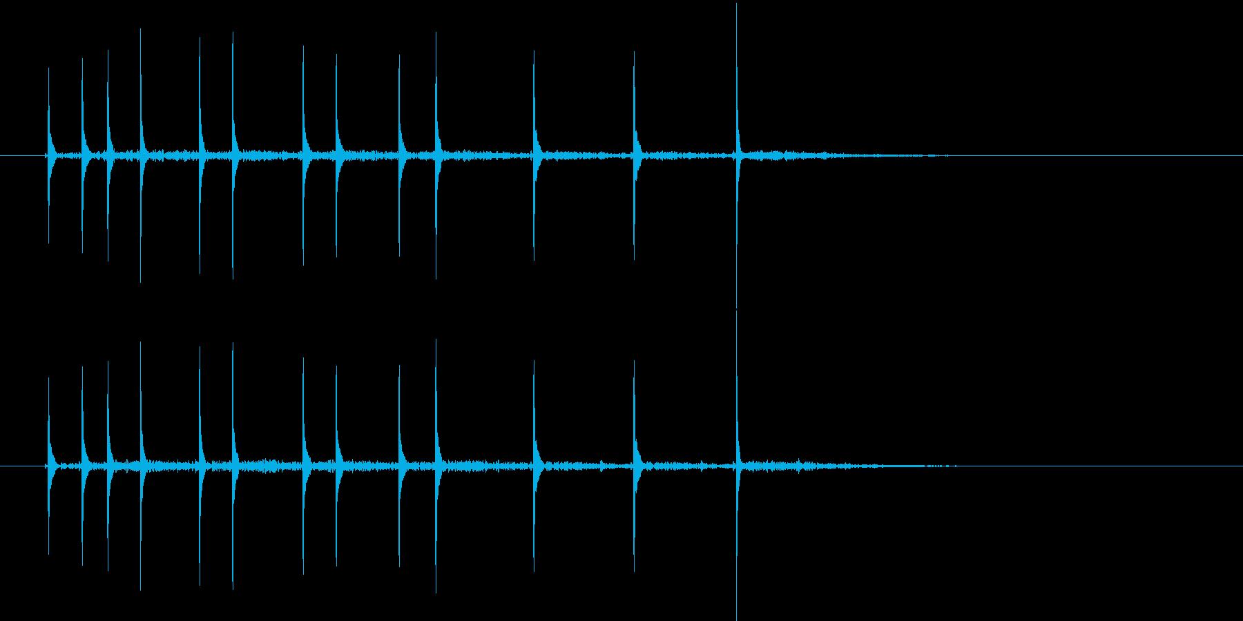 コココッココーチン(ハネ感のある効果音)の再生済みの波形