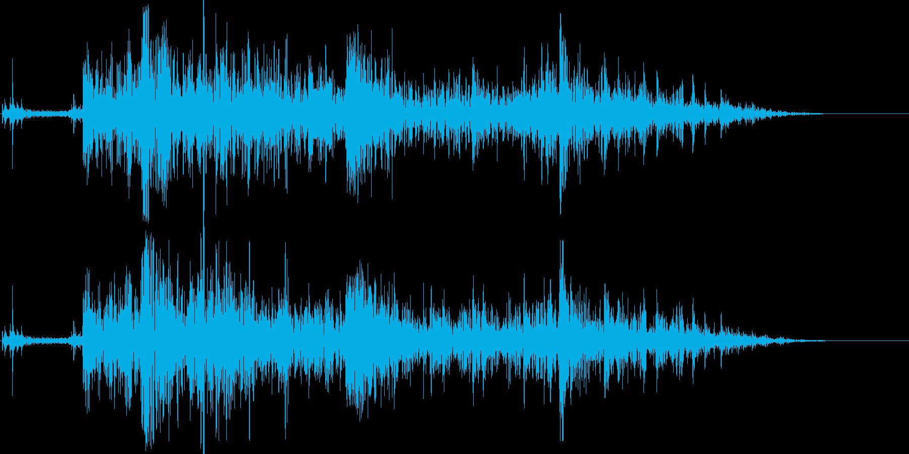 ドンパァ!花火の本当にリアルな効果音14の再生済みの波形