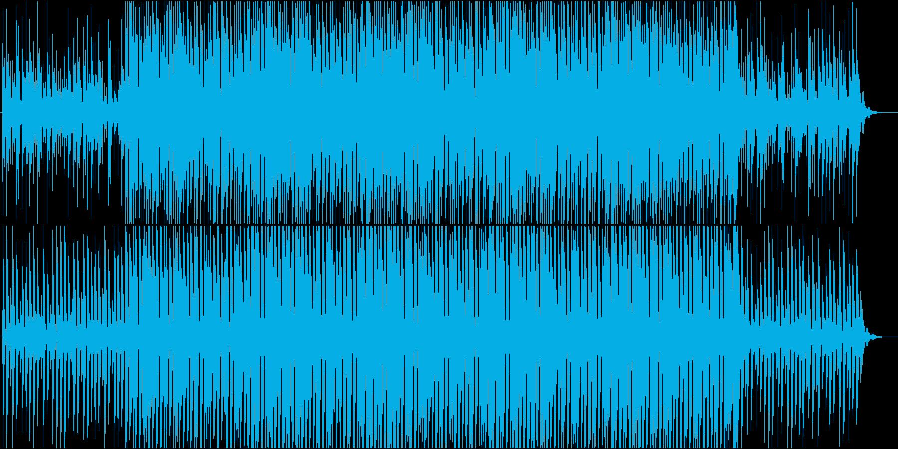 カフェで流れるBGMの再生済みの波形