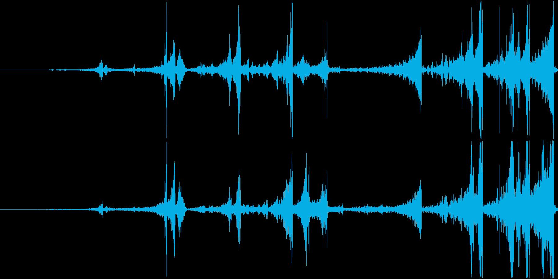 Zap 巻き戻し音・ザップ効果音 3の再生済みの波形