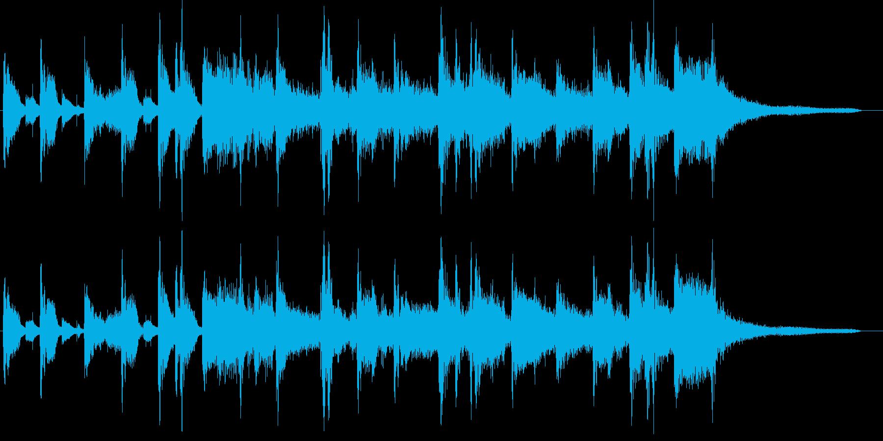 JAZZピアノサックスレトロ企業VPの再生済みの波形