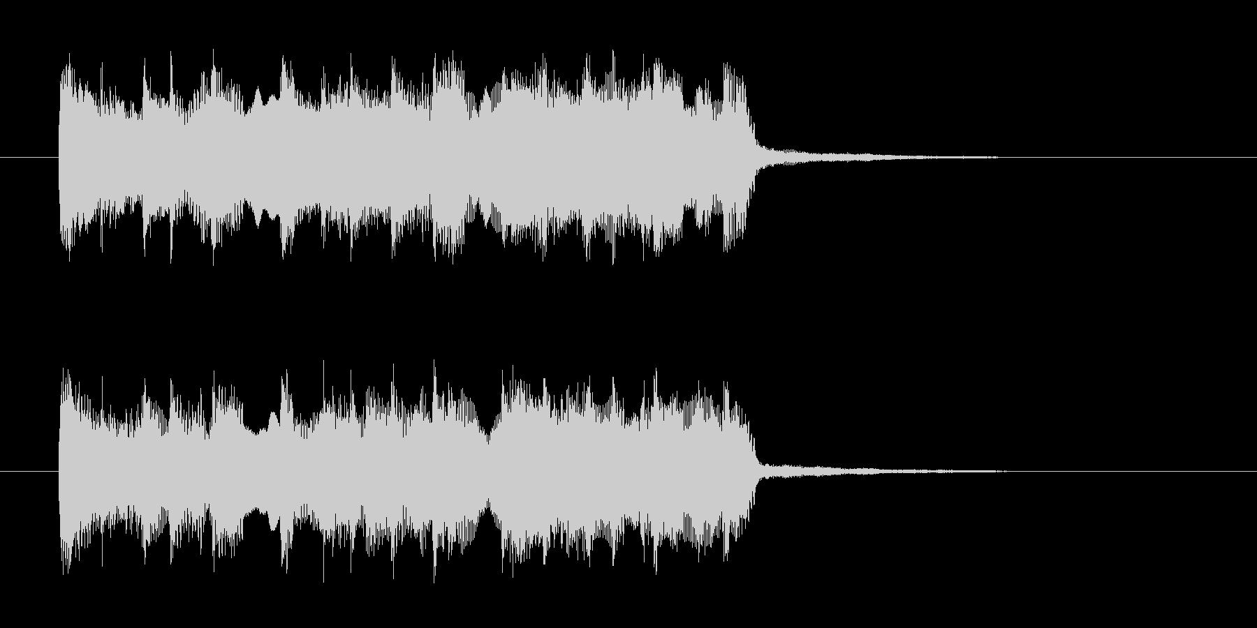 明るくわくわく感の打楽器管楽器サウンドの未再生の波形