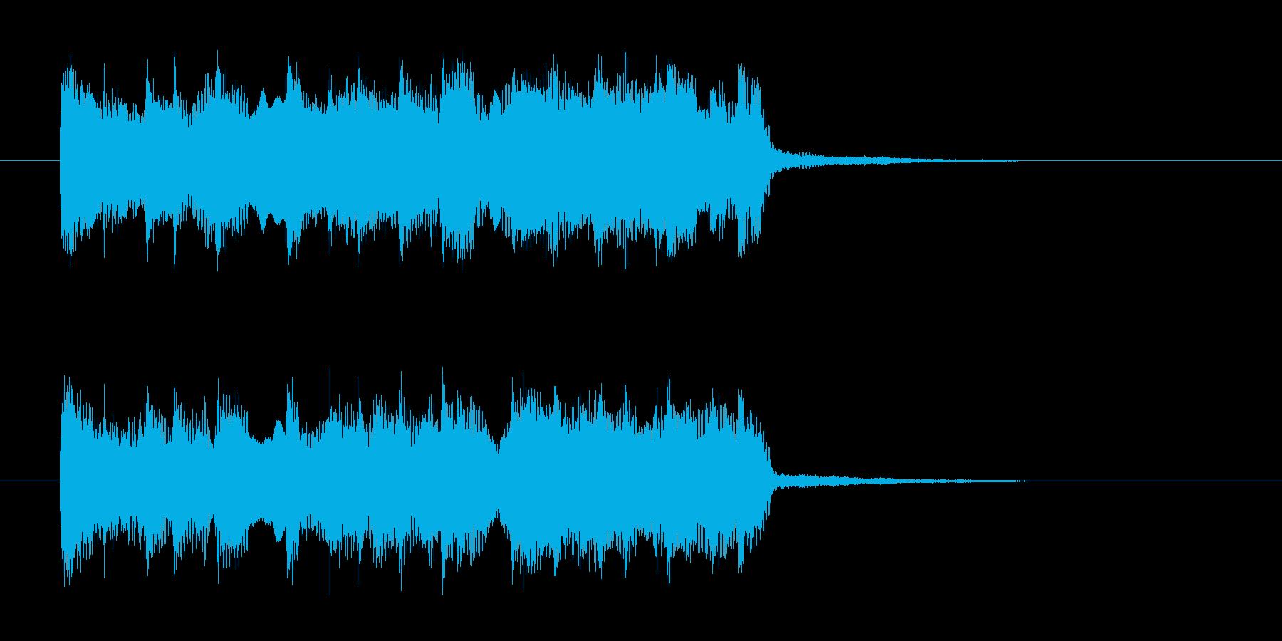 明るくわくわく感の打楽器管楽器サウンドの再生済みの波形