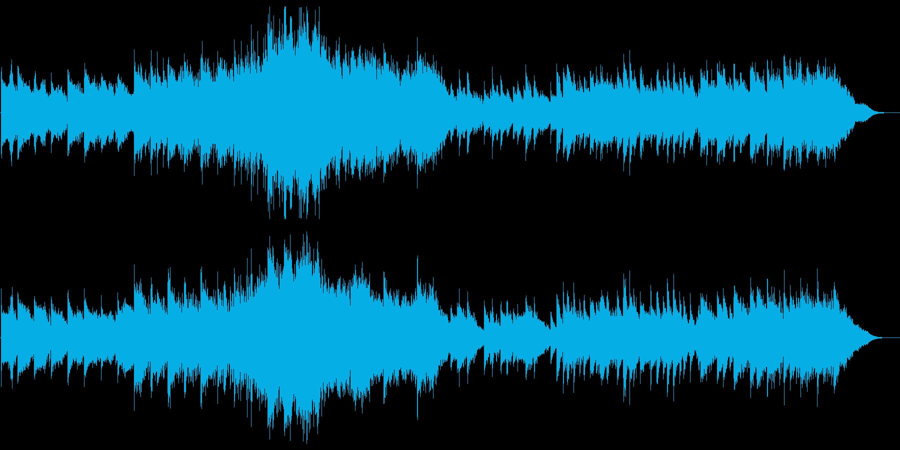 幻想的雰囲気漂うオーケストラ楽器の曲の再生済みの波形