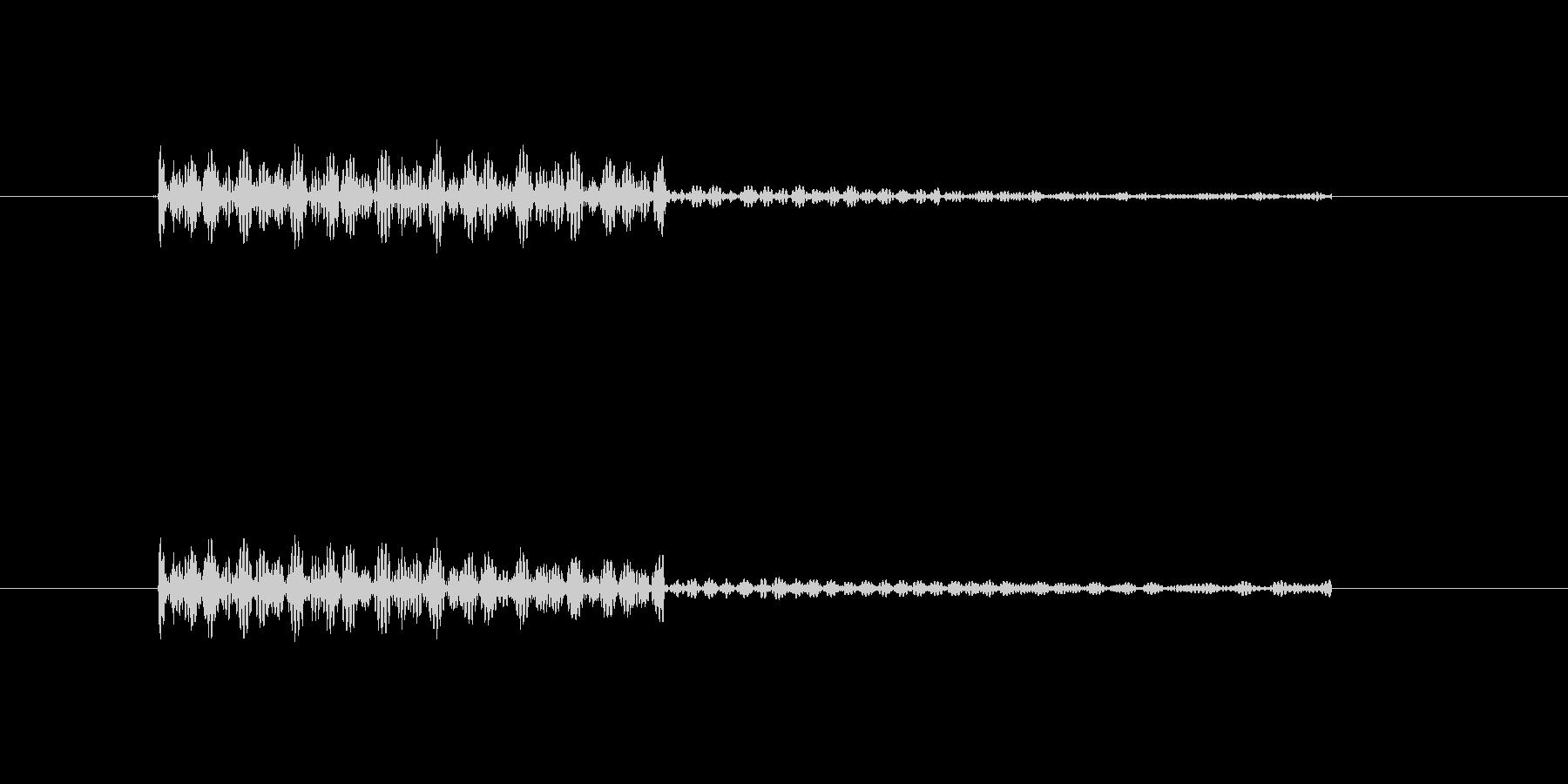 ポンと鳴る暗くてかわいい効果音の未再生の波形