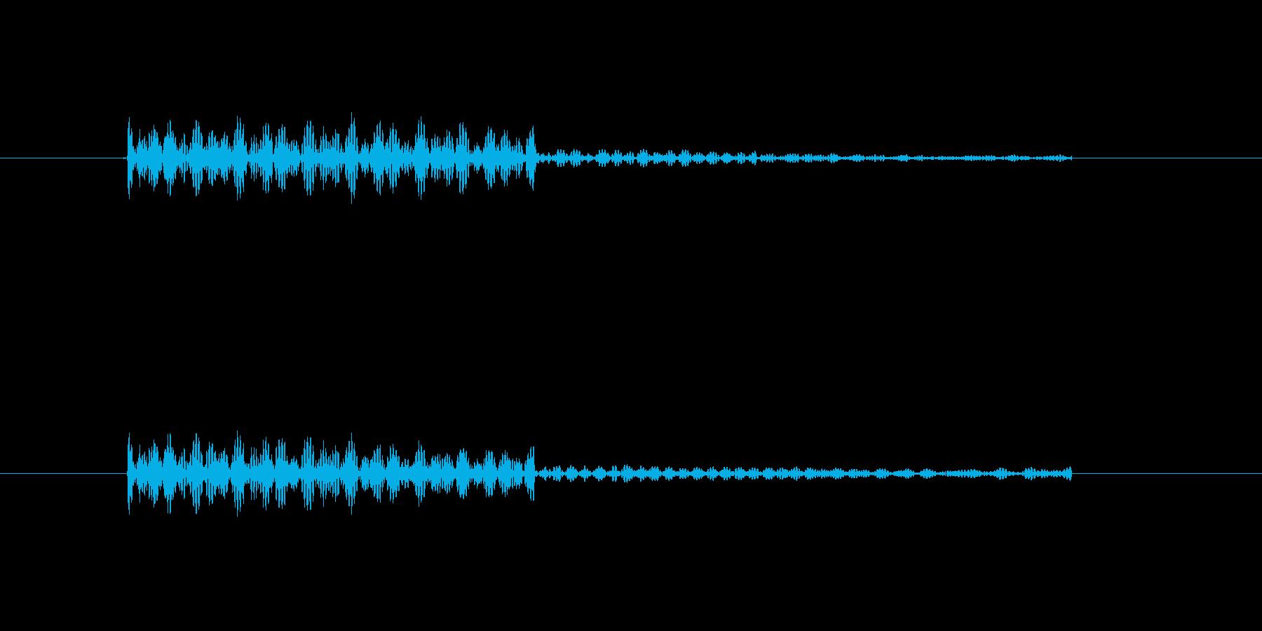 ポンと鳴る暗くてかわいい効果音の再生済みの波形