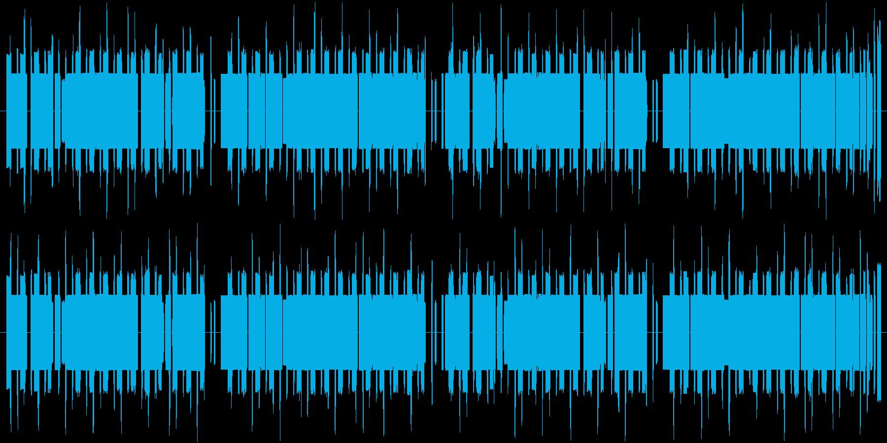 エスニックで怪しい8bitの再生済みの波形