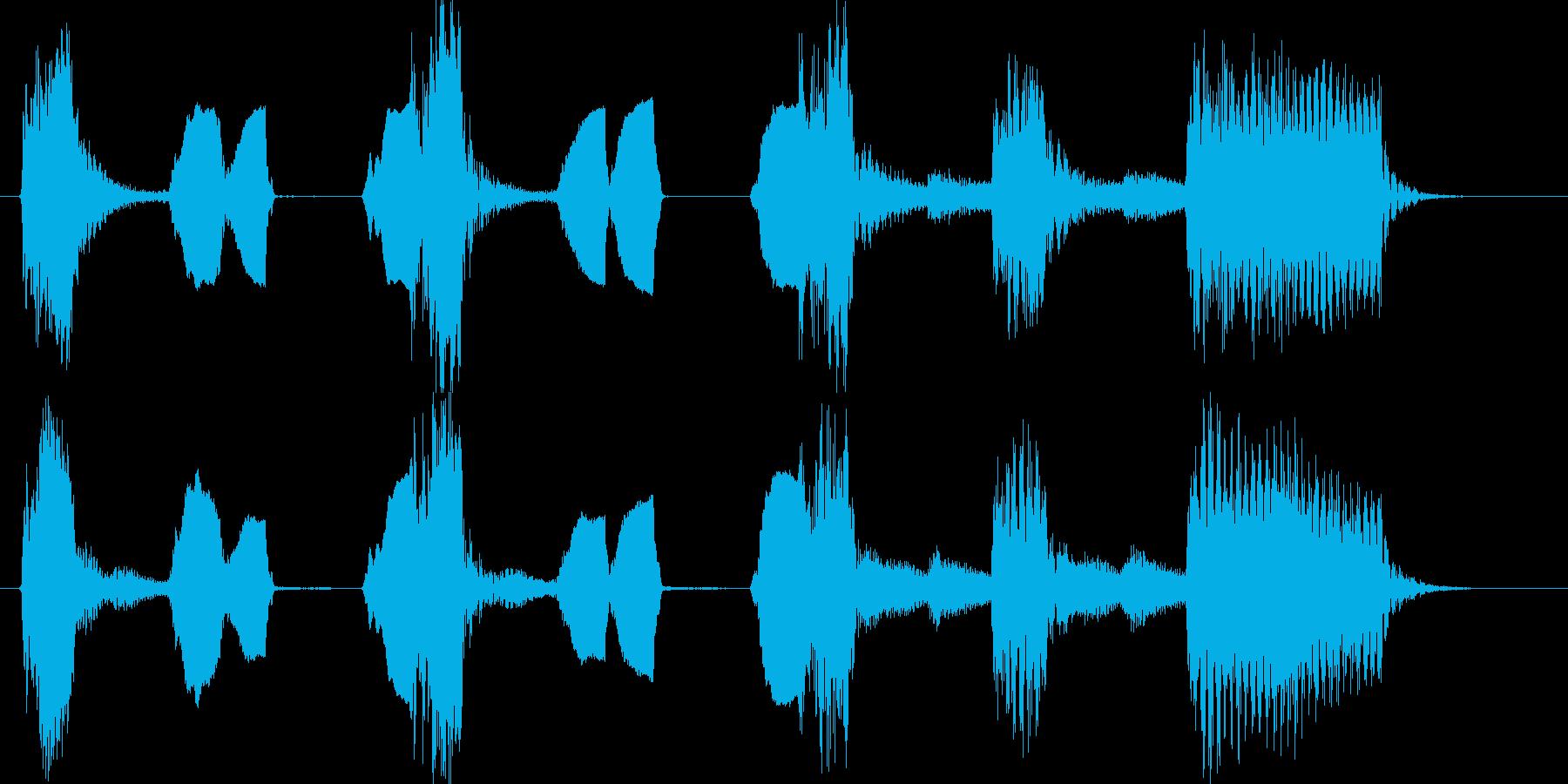琴尺八でかわいいコミカルジングルの再生済みの波形
