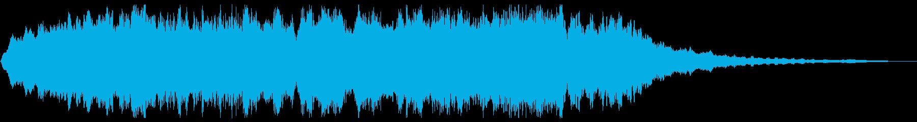 ホラーBGM 恐怖の演出 不気味な背景音の再生済みの波形