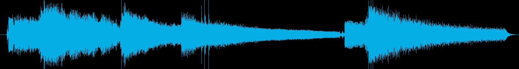 ギターフレーズ018の再生済みの波形