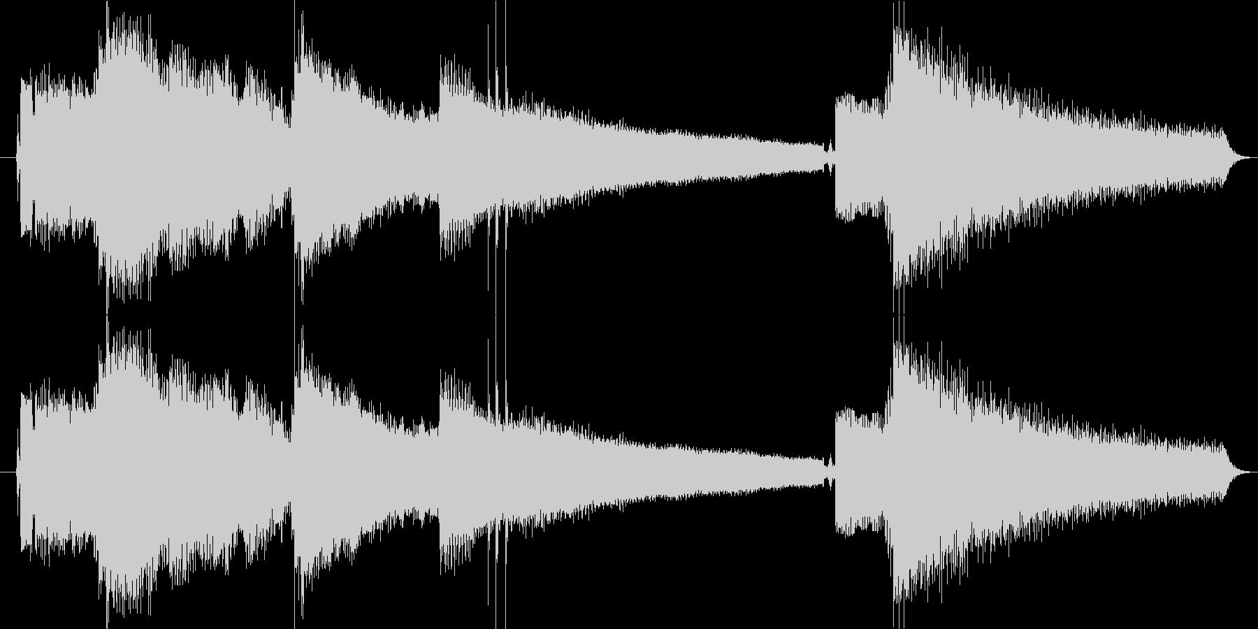 ギターフレーズ018の未再生の波形