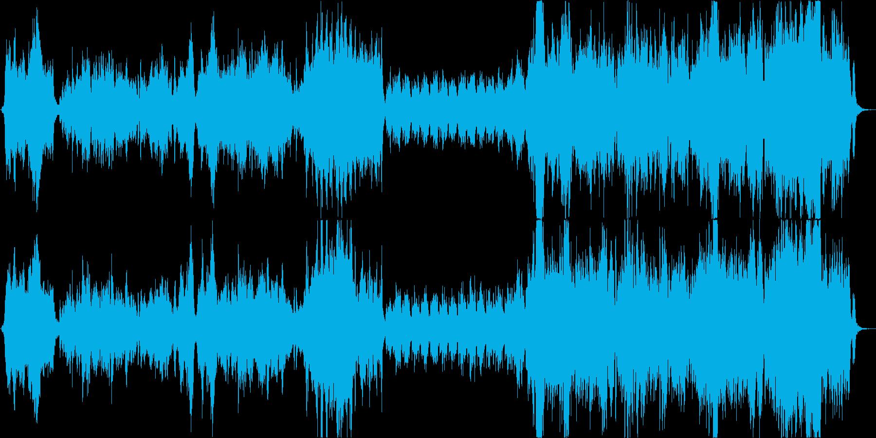 ファンタジー・旅立ちシーンのオーケストラの再生済みの波形