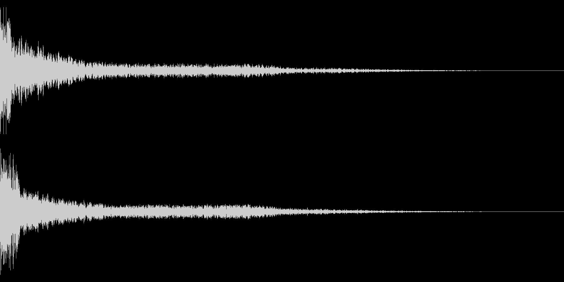 ホラー系アタック音58の未再生の波形